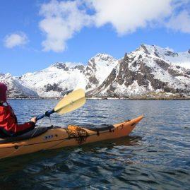 Kayaking In Arctic Norway